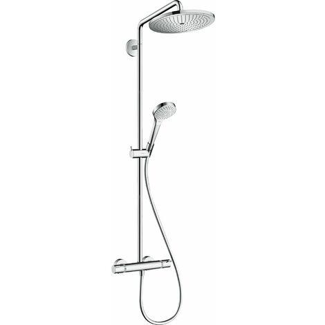 HANSGROHE Showerpipe 280 1jet avec mitigeur thermostatique chromé Croma Select S
