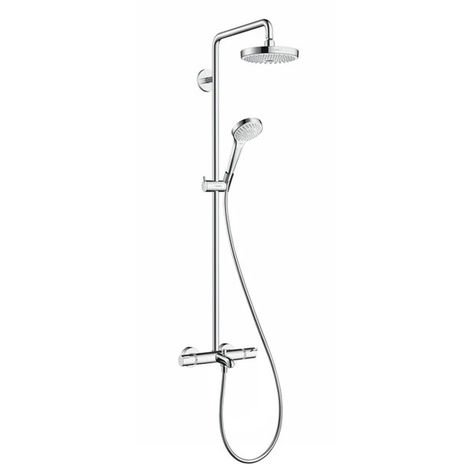 HANSGROHE Showerpipe Croma Select S 180 2jet bain/douche blanc/chromé