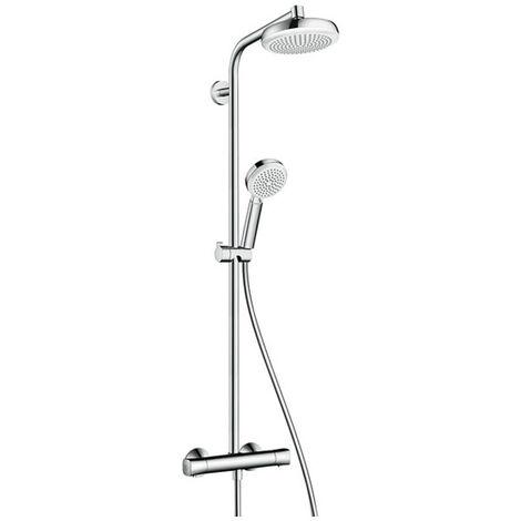 HANSGROHE Showerpipe Crometta 160 EcoSmart blanc/chromé