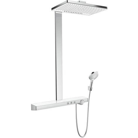 Hansgrohe Showerpipe Duschsystem Rainmaker Select E 460 2jet Ecosmart weiß/chrom, 27028400