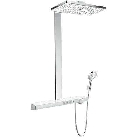 Hansgrohe Showerpipe Duschsystem Rainmaker Select E 460 3jet Ecosmart weiß/chrom, 27029400