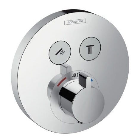 Hansgrohe ShowerSelect S Thermostat for concealed installation for 2 functions (15743000)