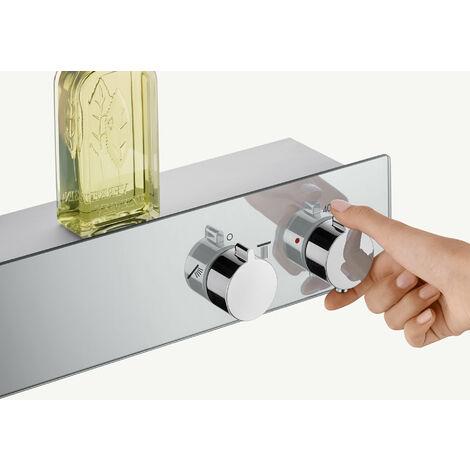 Hansgrohe ShowerTablet 600 Termostato universal para 2 consumidores, blanco/cromo - 13108400