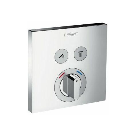 Hansgrohe ShowerTablet ShowerSelect Mélangeur douche, encastré, 2 consommateurs, chromé - 15768000