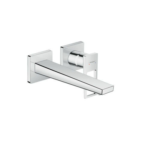 Hansgrohe Single lever basin mixer with lever handle for concealed installation wall-mounted with spout, chrome (32525000)