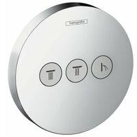 Hansgrohe Tablette de douche DoucheSelect S Valve, encastrée, 3 consommateurs - 15745000