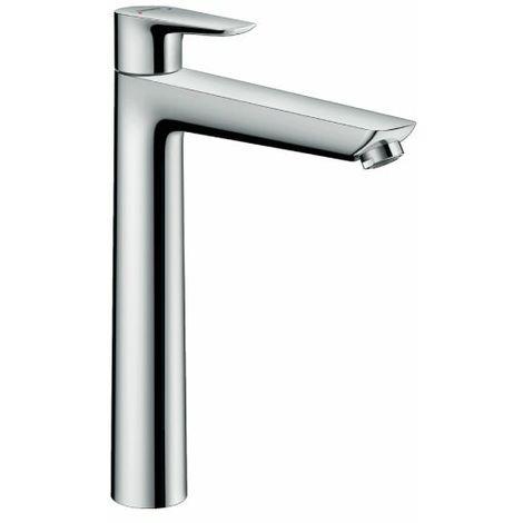 Hansgrohe Talis E Miscelatore monocomando lavabo 240 con saltarello, cromo nero satinato, 71716340
