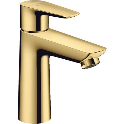 Hansgrohe Talis E Mitigeur lavabo 110 CoolStart avec garniture de vidage, Finition Optique Or Poli (71713990)
