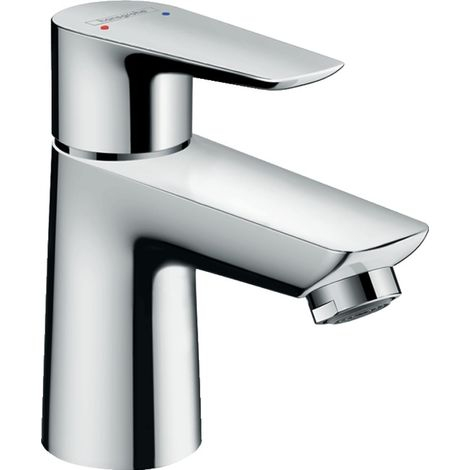 Hansgrohe Talis E single-lever basin mixer 80, for open water heaters, pop-up waste, 96mm projection - 71707000