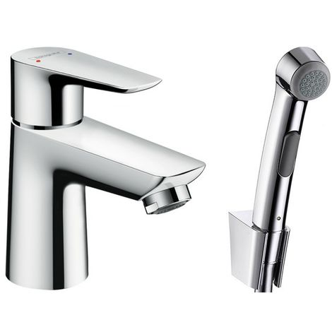 Hansgrohe Talis E Single lever basin mixer with bidette hand shower and shower hose 160 cm (71729000)