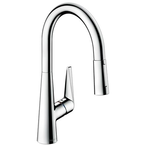 Hansgrohe Talis S - Single lever sink mixer with extractable spray 200, chrome 72813000