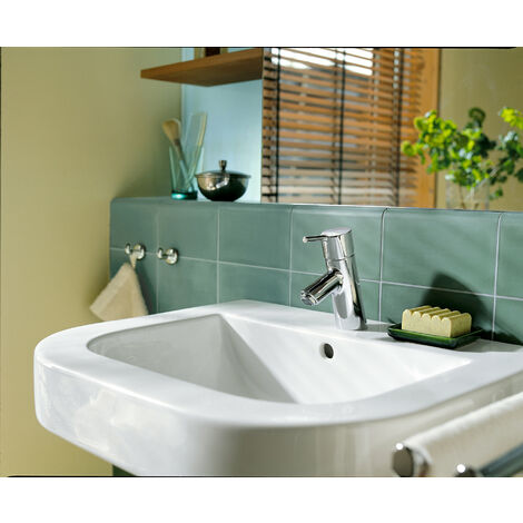 Hansgrohe Talis S single lever washbasin mixer, pop-up waste, 100mm projection - 32020000