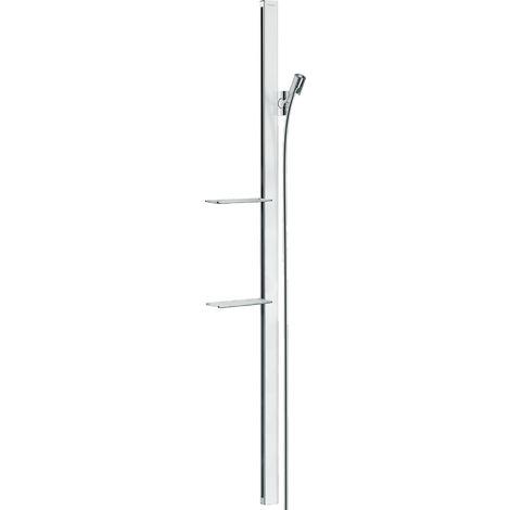 Hansgrohe Unica barra de ducha E 150 cm con manguera de ducha, 27645, color: cromado - 27645000