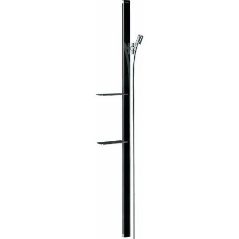 Hansgrohe Unica barre de douche E 150 cm avec flexible de douche, 27645, Coloris: chrome/noir - 27645600