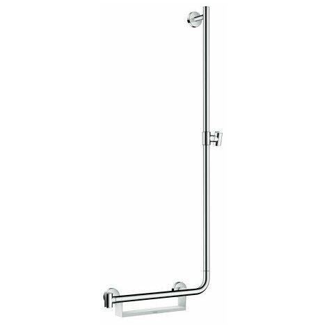 hansgrohe Unica Comfort barre de douche 110 cm droite, 26404400, blanc/ chrome - 26404400