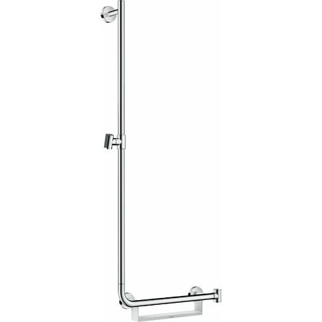 hansgrohe Unica Comfort rail de douche 110 cm gauche, 26403400, blanc/ chrome - 26403400