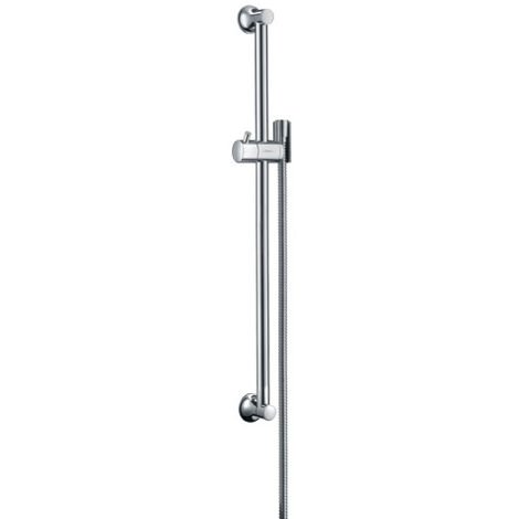 hansgrohe Unica rail de douche Classic 65 cm avec tuyau de douche, 27617, Coloris: Nickel brossé - 27617820