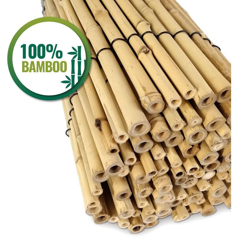 Happers Valla Jardín Bambú Natural Rollo Cañas Bambú Ocultación Jardín Terraza Y Balcón O Decoración Terraza De 100cm X 200cm