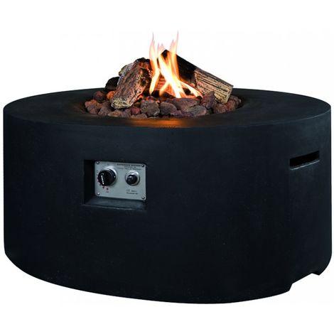 HAPPY COCOONING Feuertisch Ovale Gartenkamin mit Gas