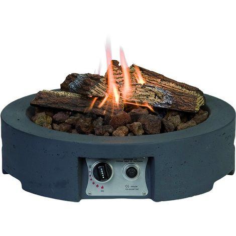 HAPPY COCOONING Feuertisch Tondo Piatto Gartenkamin mit Gas