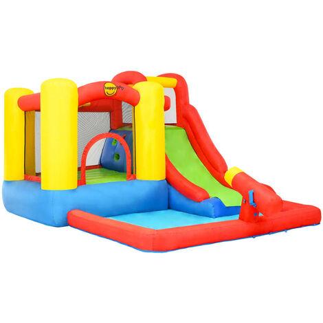 Happy Hop Castillo hinchable con tobogán y piscina PVC 350x280x190 cm - Multicolore