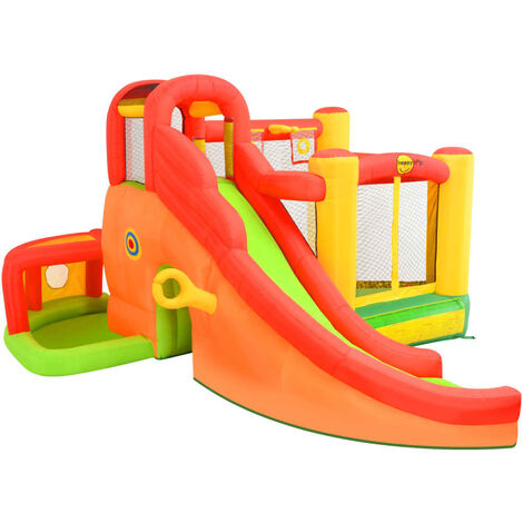 Happy Hop Inflatable Bouncer with Slide 450x380x230 cm PVC