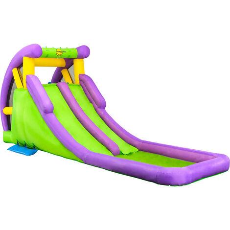 Happy Hop Tobogán de agua hinchable con piscina PVC 600x215x255 cm - Multicolore