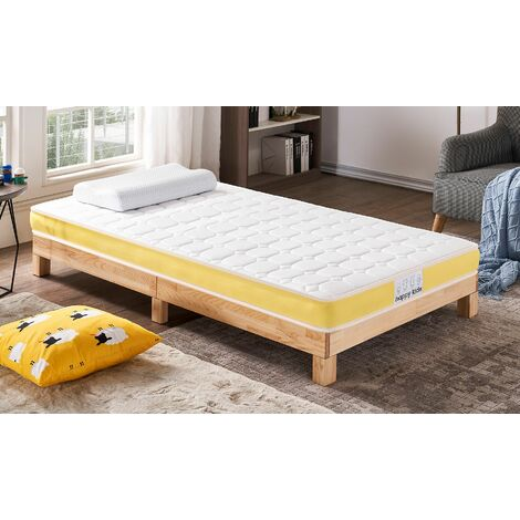 Happy Kidz Pocket Spring Mattress. Replacement Mattress For Bunk Beds, Cabin Beds and Mid Sleepers - EU Single