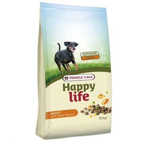 Happy Life cibo per cani adulti con carne di manzo   Versele Laga cibo per cani   Cibo per cani 15kg