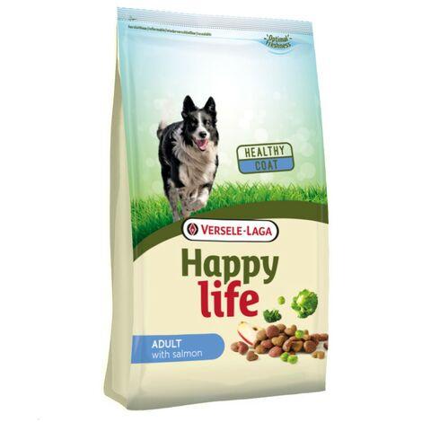 Happy Life cibo per cani adulti con salmone   Versele Laga cibo per cani   Cibo per cani 15kg