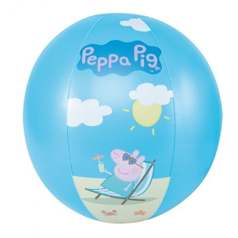 HAPPY PEOPLE BALLON DE PLAGE PEPPA PIG JOUET DE BAIN, BLEU 16264
