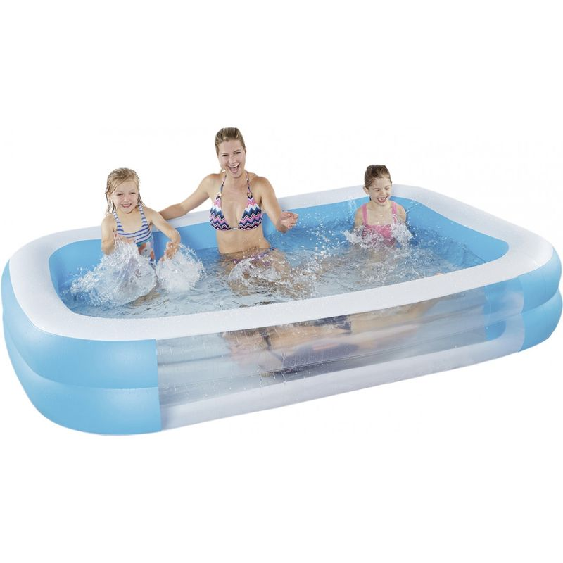 happypeople Happy People Family Pool mit Sichtfenster 262 x 175 x 50 cm