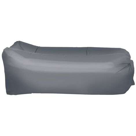 Happy People Matelas gonflable Lounger To Go 2.0 Gris 100 kg