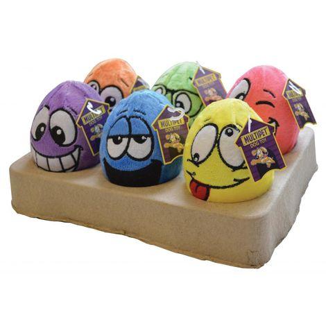 Happy Pet 1 Egg Noggin Dog Toy - ASRTD (12.5 x 8.5 x 8.5cm) (Assorted)