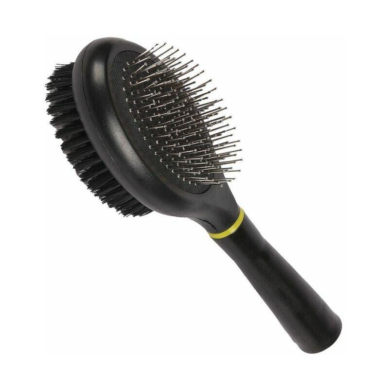 Image of Combi Brush (24cm x 7cm) (Black) - Happy Pet
