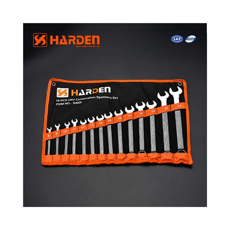 Image of HARDEN combination spanners set 14 pcs sizes 8-24mm CrV steel (HAR 540101)