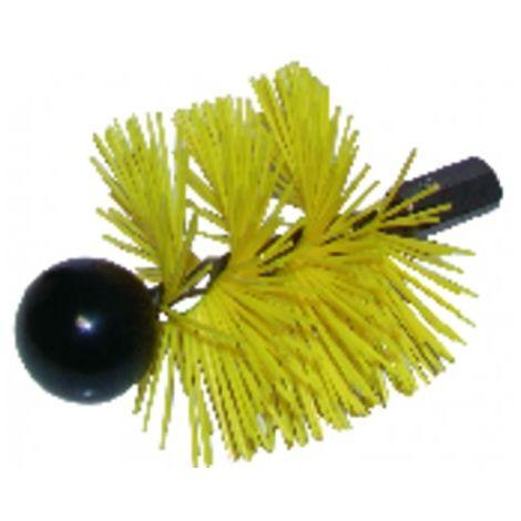 Harden steel roller brush with ball Ø 125m