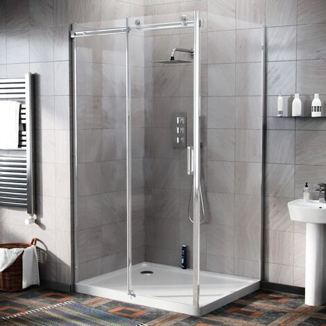 Hardwick 1100 x 900mm Frameless Sliding Shower Door Enclosure