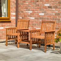 Hardwood Garden Love Seat Set