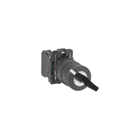 Harmony bouton tournant noir Ø22 - à clé Ronis 455 - 2 positions - 1F - XB5AG41