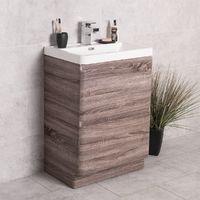 Harmony Oak 600mm Vanity Unit & Basin
