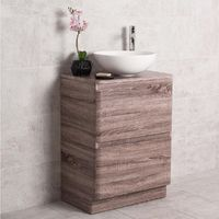 Harmony Oak 600mm Vanity Unit & Noda Countertop Basin