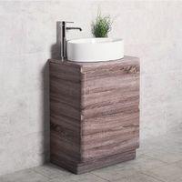 Harmony Oak 600mm Vanity Unit & Toki Countertop Basin
