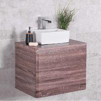 Harmony Oak 600mm Wall Hung Vanity Unit & Mito Countertop Basin