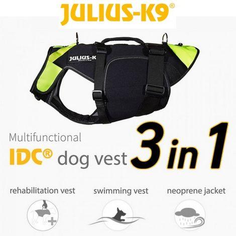 Harnais Gilet de sauvetage IDC 3 en 1 - Julius K9 Désignation : Harnais taille M Julius K9 600246