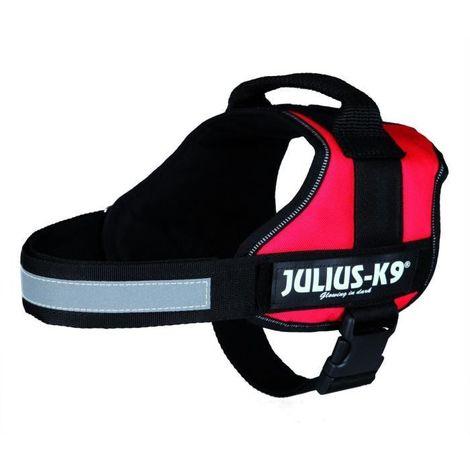 JULIUS-K9 Harnais Power 0-M-L- 58-76cm rouge compatible avec chien