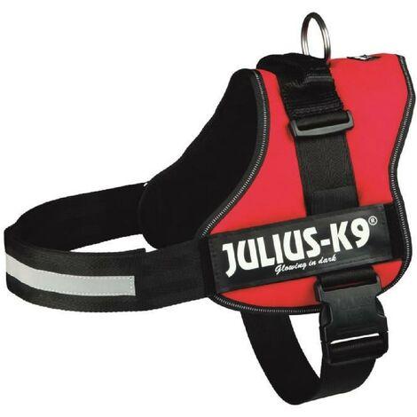Harnais Power Julius-K9 - 3 - XL - 82-118 cm-50 mm - Rouge - Pour chien