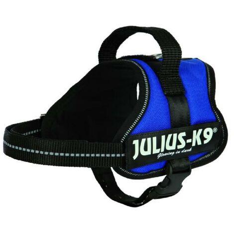 Harnais Power Julius-K9 - Mini-Mini - S - 40-53 cm-22 mm - Bleu - Pour chien