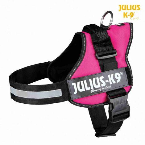 Harnais Power Julius-K9 - Baby 1 - XS - 30-40 cm-18 mm - Fuchsia - Pour chien