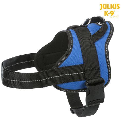 Harnais Pure Julius K9 - L 66-85cm 40mm bleu